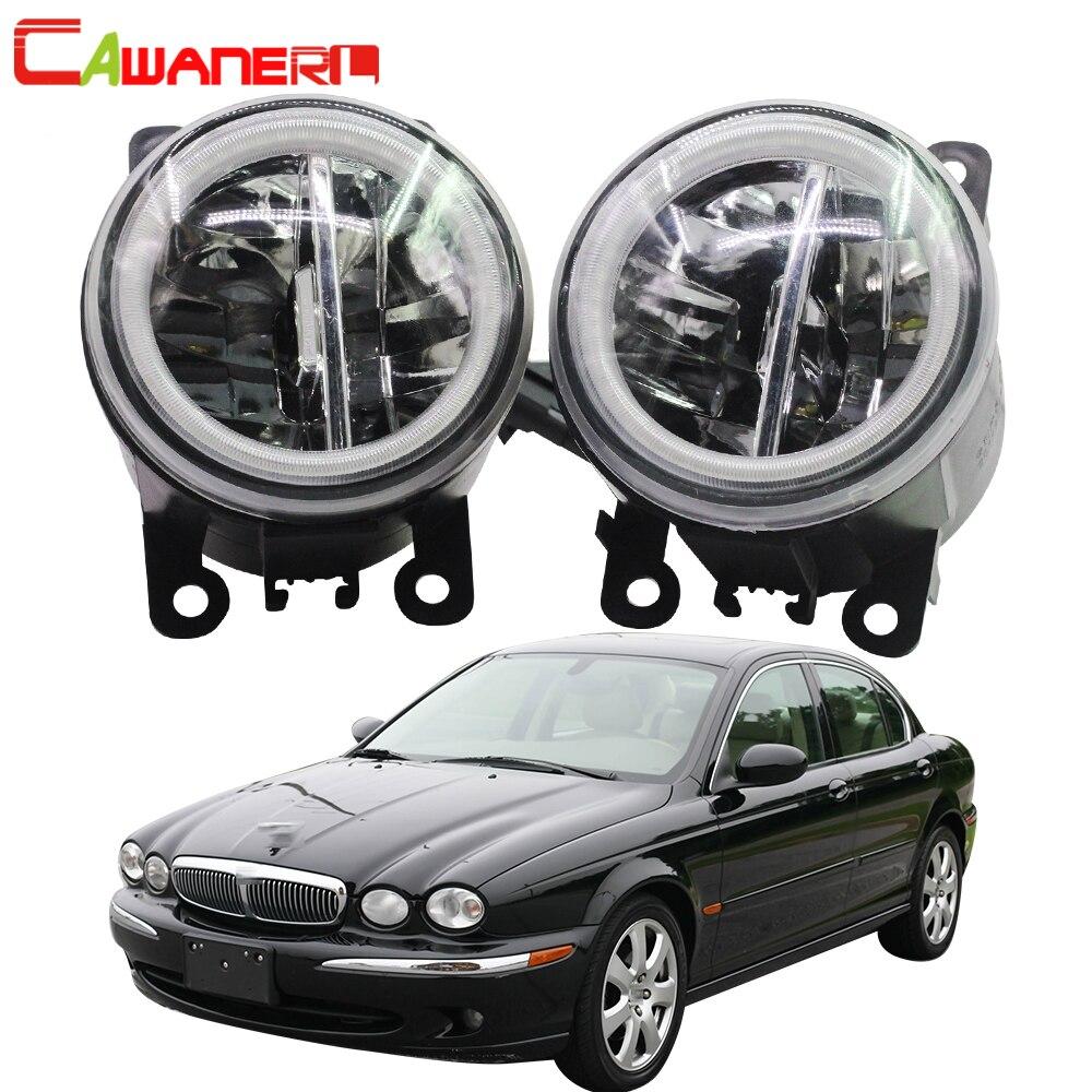 Cawanerl para 2001-2009 Jaguar x-type (CF1) Saloon bombilla LED de coche luz antiniebla + Ojo de Ángel DRL luz diurna 12V Accesorios