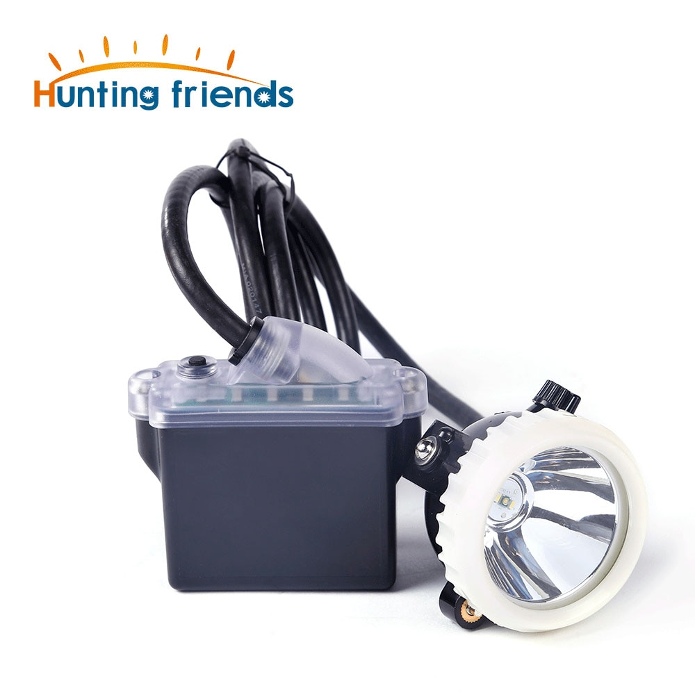 Mineração farol 1 + 2 led mineiro lâmpada 18650 bateria lâmpada de mineração à prova dwaterproof água farol à prova de explosão lâmpada mineiro