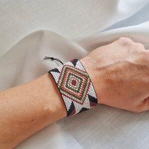 Женский браслет с бусинами «Миюки» BLUESTAR, браслет ручной работы с геометрическим рисунком и кристаллами, 2021