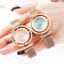 Vente chaude décontracté femmes romantique ciel étoilé Montre-bracelet strass aimant concepteur dames horloge robe Simple Gfit Montre Femme S