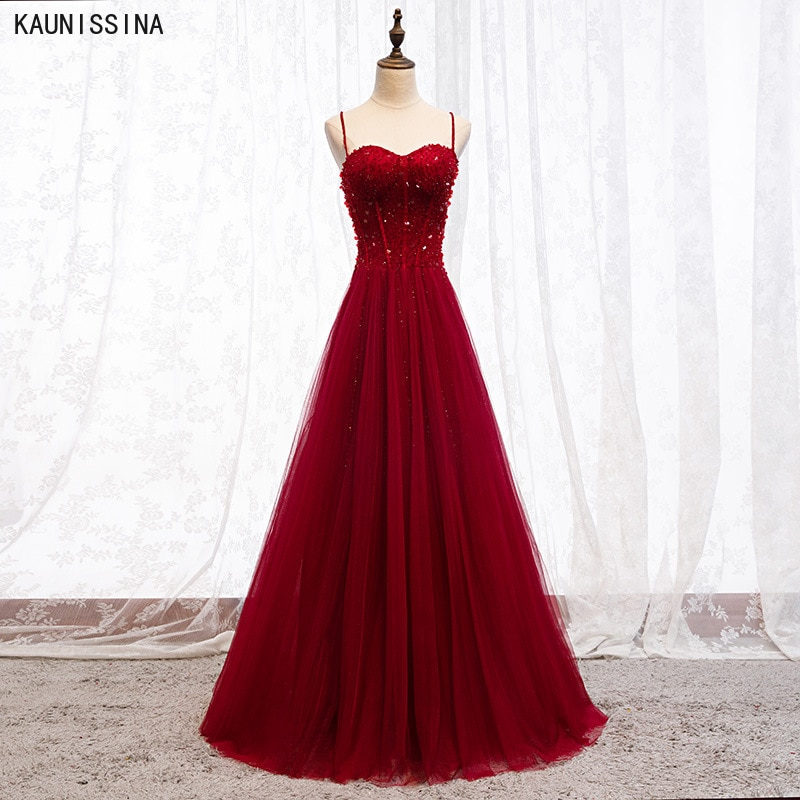 Beading Prom Dresses Plus Size Tulle Evening Dress Sweetheart Sleeveless Gown A-line Backless Vestido Real Photo