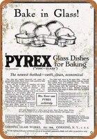 pyrex glassware tin sign art wall decorationvintage aluminum retro metal sign