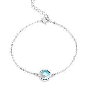 925 Sterling Silver Adjustable Link Chain Mermaid Charm Bracelets & Bangle For Women Jewelry sl326