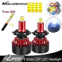 H7 LED 전조등 전구 8면 CSP 360 샤인 LED H7 H8 H11 H1 안개등 13500LM LED 자동차 조명 HB3 HB4 LED 전구 자동 램프 12V