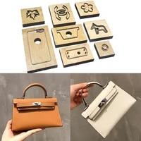 japan steel blade wooden rule die cutter diy leather handmade craft women handbag sewing pattern 220x140x 66mm