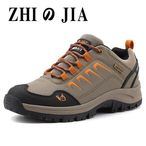 Leather sports men's shoes lovers shoes hiking shoes daily ladies hiking shoes waterproof non-slip thick-soled wear-resistant