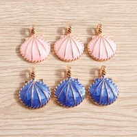 10pcs 2026mm enamel shell charms for jewelry making diy drop earrings pendants necklaces keychain handmade crafts accessories