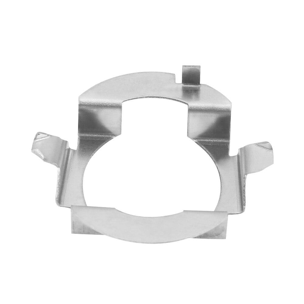 2 pçs prata h7 led farol adaptador retentor titular para benz classe b ml touareg opel chery riich g5 saab d5 x55 x25 x65