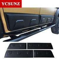 ABS Body Cladding side door body molding Exterior For Isuzu d-max dmax 2016 2017 2018 2019 Double Cab Matte Black Color