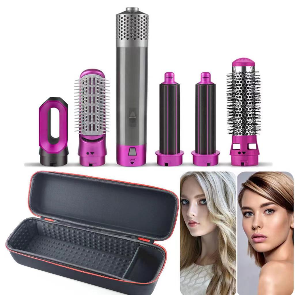 One-Step Hot Air Brush Wrap Auto Hair Straightener Dryer Brush 5in1 Electric Blow Dryer Hair Curling Iron Detachable Brush Kit enlarge