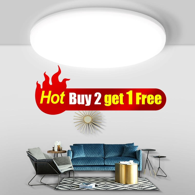 Modern Led Ceiling Lights for Living Room Bedroom Light Fixture for Ceiling Lamps Indoor Lighting Buy 2pcs Get 1pcs 15W Free