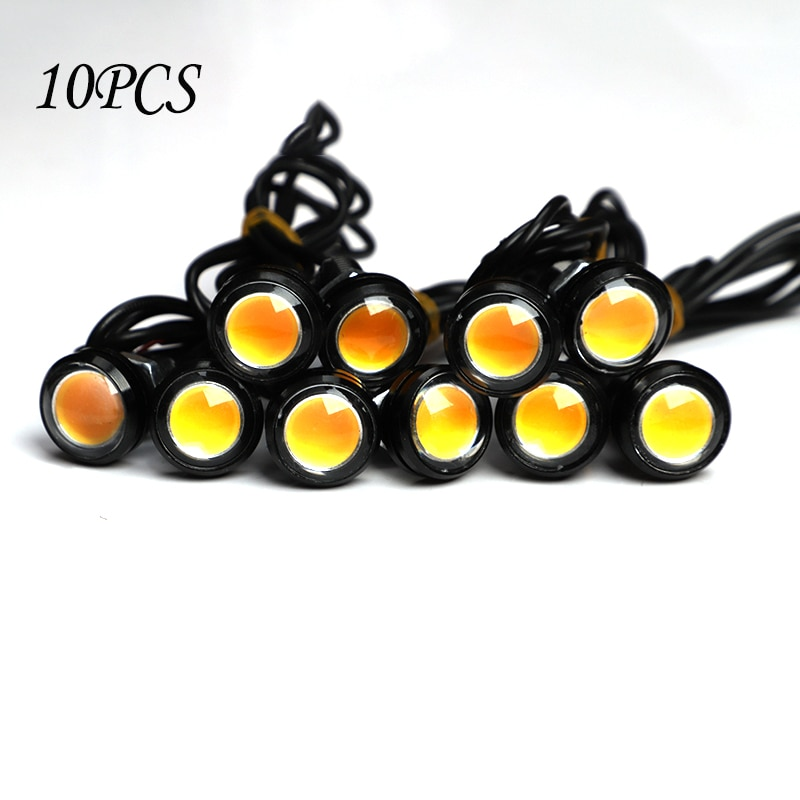 """10 шт./упак. 18 мм светодиодные дневные ходовые огни для автомобиля """"Eagle Eye"""", 12 В, резервный сигнал для парковки, автомобильные лампы"""