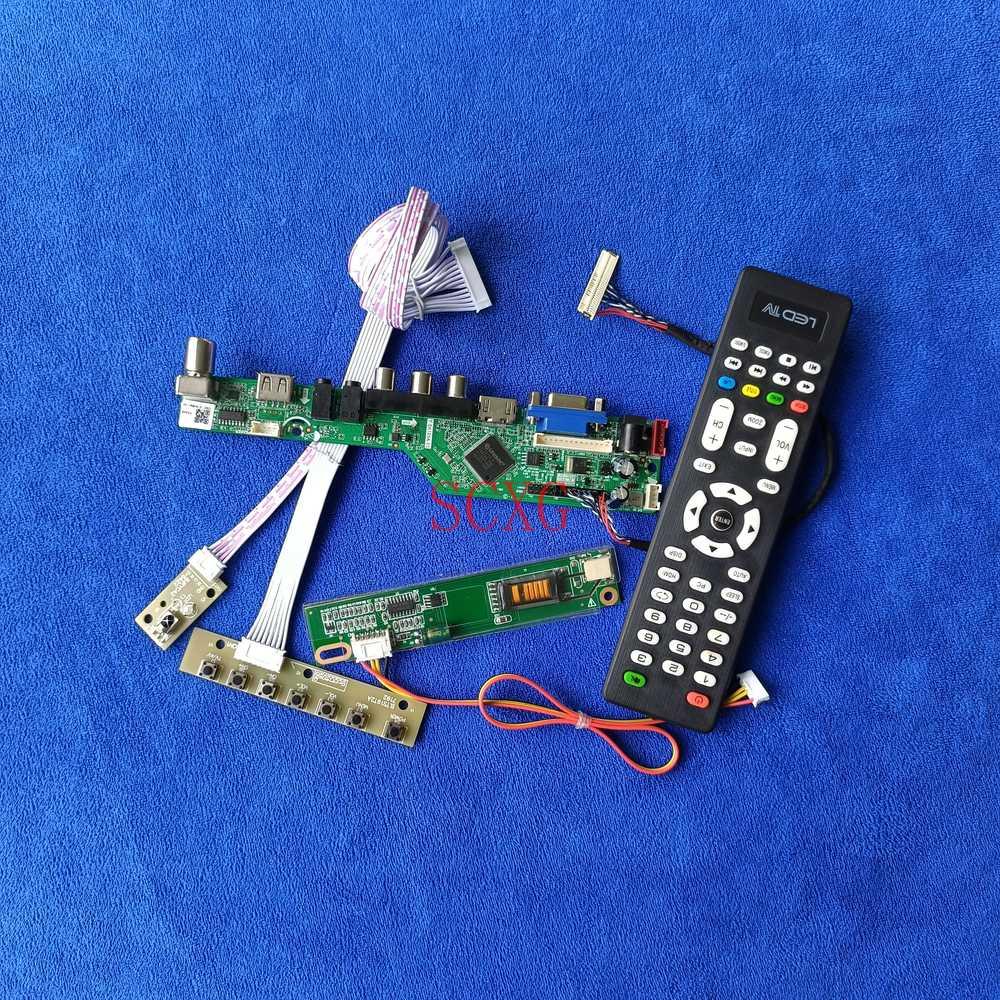 1CCFL USB VGA AV HDMI-متوافق LCD مصفوفة كارت قيادة 30 دبوس LVDS 1280*800 لتقوم بها بنفسك عدة تناسب QD15TL04/QD15TL07/QD15TL09 إشارة التناظرية