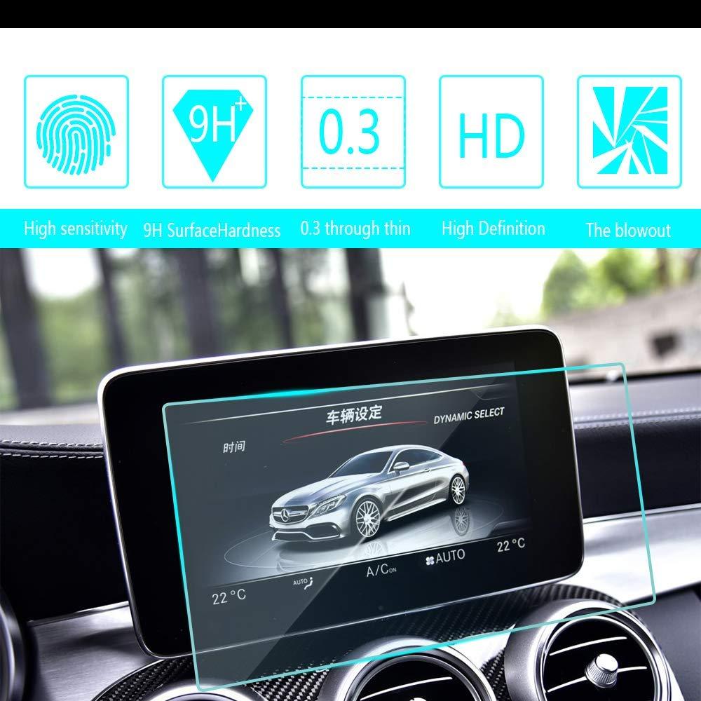Para Benz C AMG C43 C63 C63S 2015 2016 2017 2018 Protector de pantalla de navegación de coche película protectora de vidrio templado