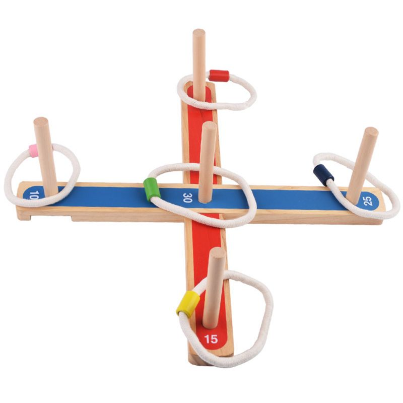 Gadgets GARDEN/OUTDOOR ROPE WOODEN PEGS THROWING GAME Family Pegs And Rope Game