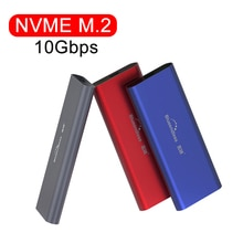PCIE M.2 NVME GEN2 10gbps SATA NGFF 6gbps Cas SSD USB Boîtier USB Type C 3.1 boîtier ssd NVME boîtier Disque DUR Disque Dur