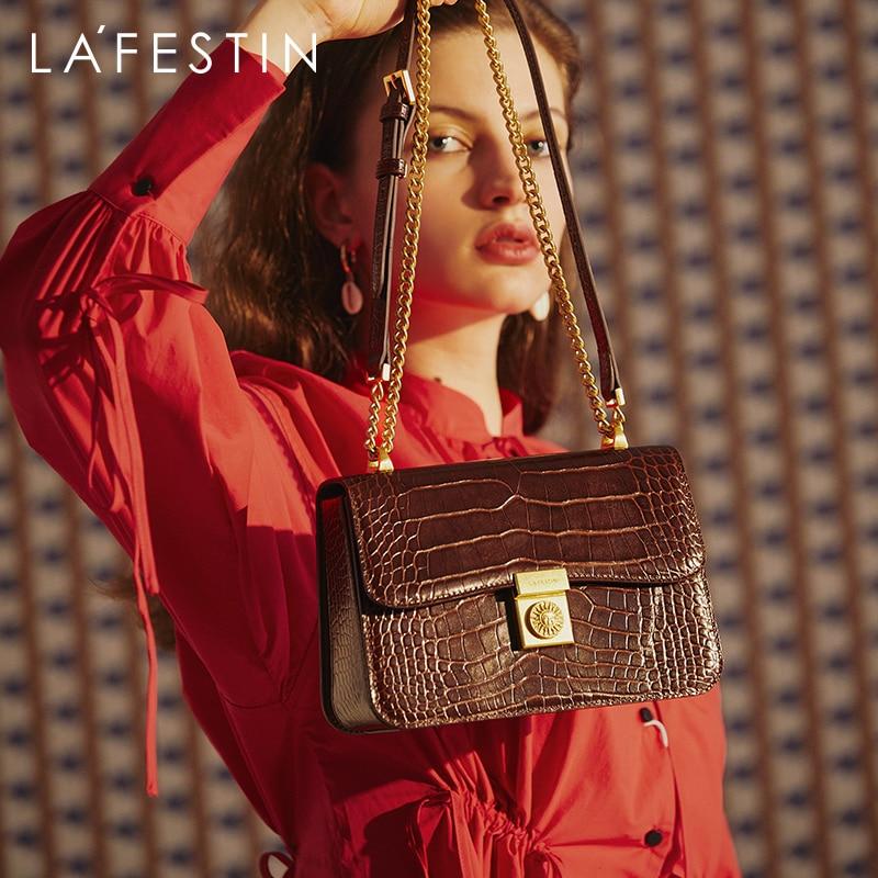 LAFESTIN2020 new ladies chain bag fashion niche one shoulder messenger bag small square bag 2021 luxury designer women crossbody