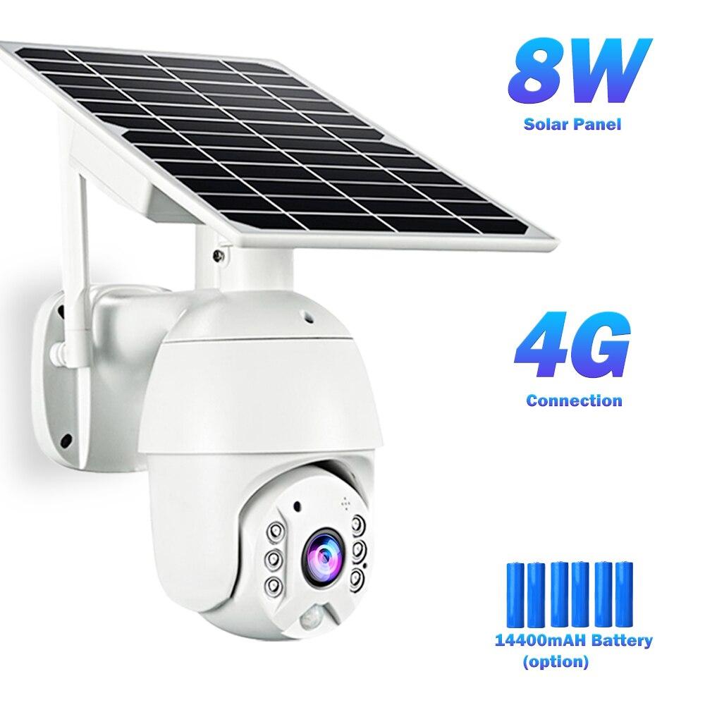 4G Solar Camera 1080P Surveillance Camera Baterry WIFI Camera Outdoor Smart Home 3G 4G Sim Card CCTV Camera