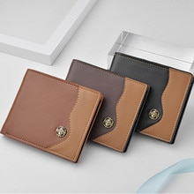 2020 new compact leather men's wallet can hold credit card photo wallet PU waterproof wallet