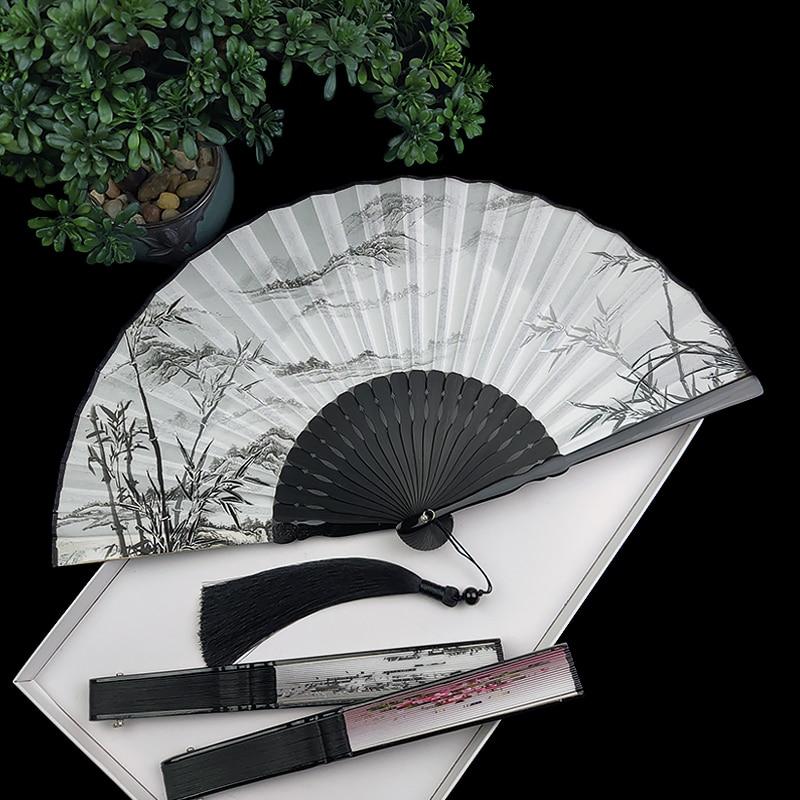 Abanico clásico chino Para hombre y mujer, Abanicos de seda Hanfu, proceso...
