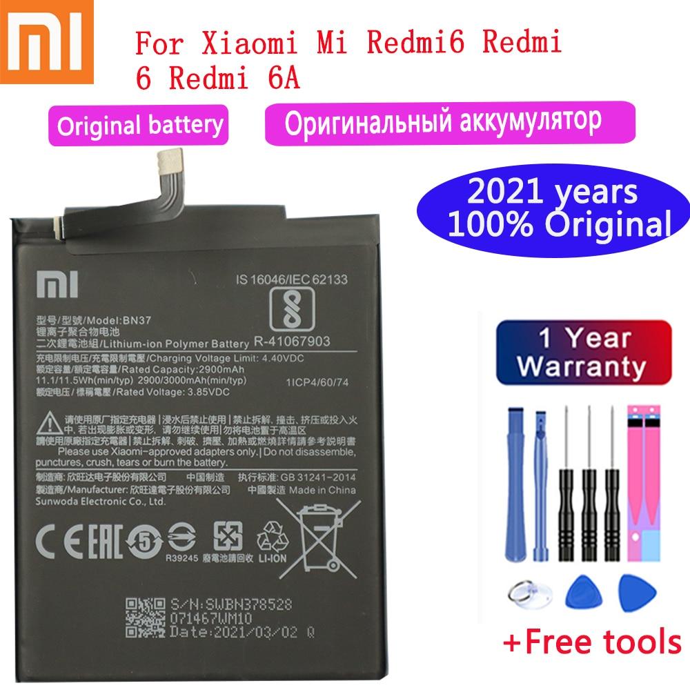 AliExpress - NEW 2021 years Original XIAOMI Battery BN37 3000 mAh for Xiaomi Redmi 6 Redmi6 Redmi 6A High Quality Phone Batteries+Free Tools