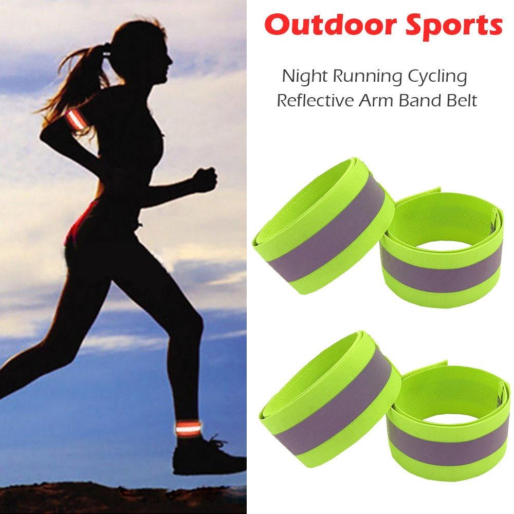 4 Uds brazalete reflectante correa de cinturón para deportes al aire libre...