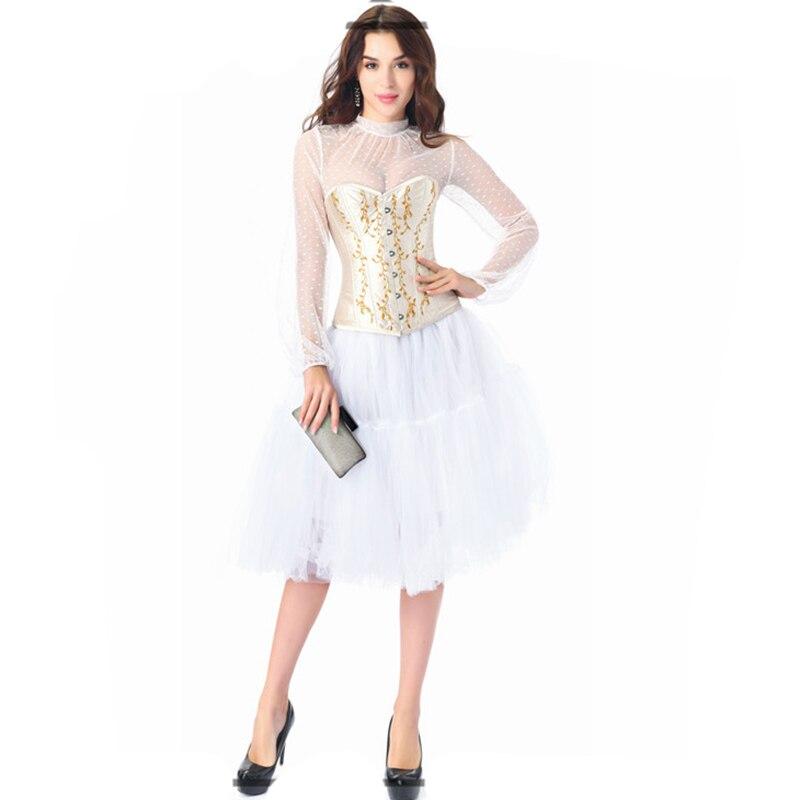 طقم مشد مثير مطرز باللونين الأبيض والبيج ، زي Steampunk ، ملابس قوطية فيكتورية ، ملابس داخلية هزلي للنساء