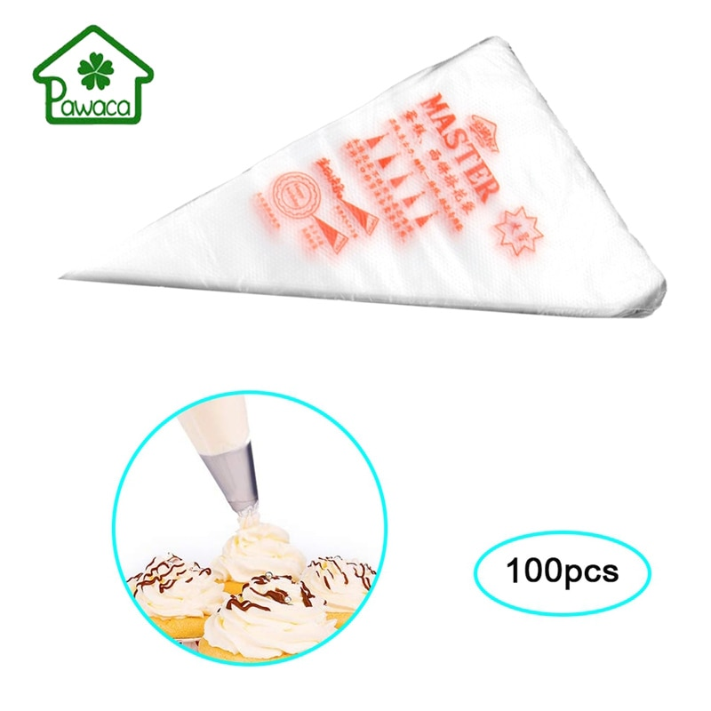 100 unids/lote desechable icing piping manga pastelera bolsa punta pastelería fondant cake crema bolsas de decoración para hornear herramienta de cocina diy 3 tamaños