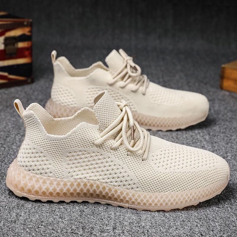 Zapatos ligeros para correr para hombre, zapatos transpirables con cordones para correr para hombre, zapatillas de moda para hombre, zapatos informales para exteriores para hombre, zapatos de ocio