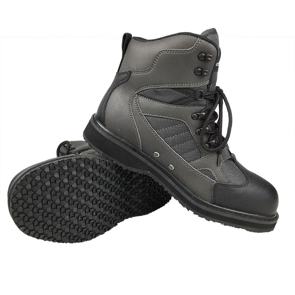 Botas de pesca, pesca con mosca, caza al aire libre, zapatos de aguas arriba, fieltro o suela de goma, botas de roca aptas para ropa o pantalones de pesca FMF3