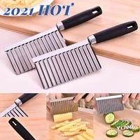 kitchen potato wavy edged knife stainless steel kitchen gadget vegetable fruit cutting tool kitchen accessories fries machine
