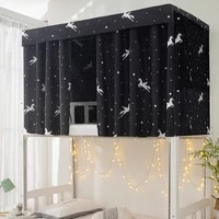 printed dormitory bed curtain with rope clasp college single bed shade cloth for 44 5 inch bunk bed valance bed for of adults