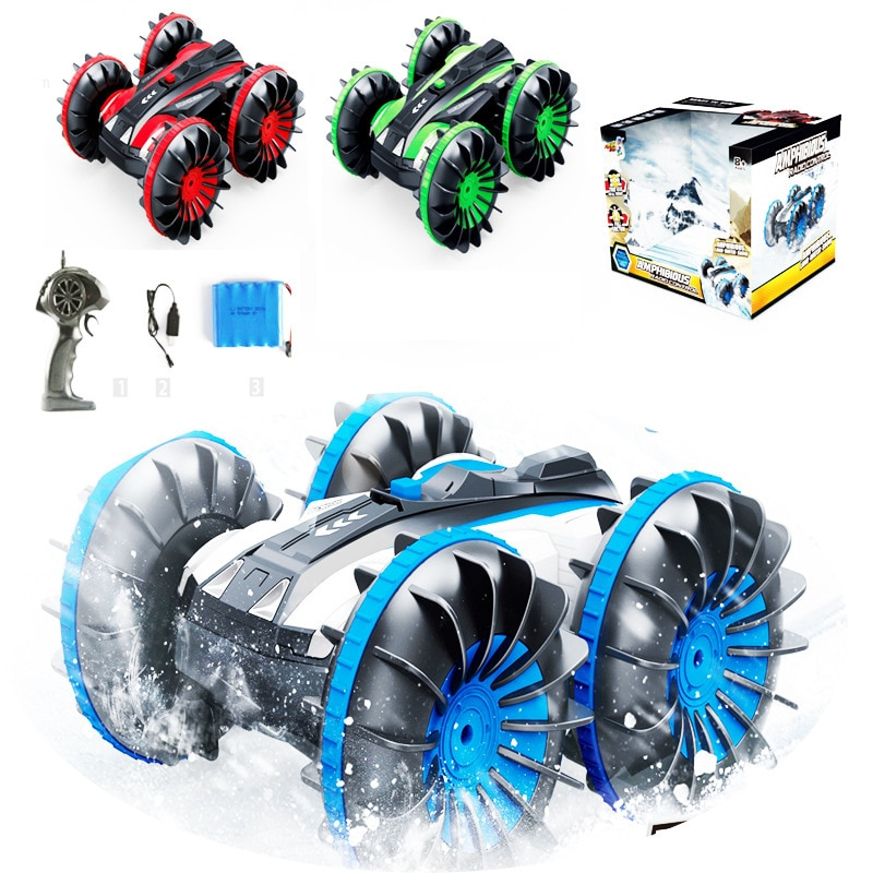 2.4G 4WD remote control rc car toy water-land amphibious car Water & Land 2 in 1 RC Stunt Car 360 degree rotation Car Toy model enlarge