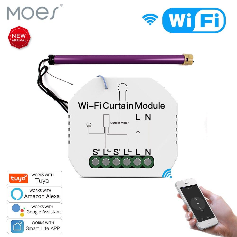 WiFi Mini Inteligente Módulo Interruptor de Cortina Cortinas De Rolo Obturador Motor Tuya APP Controle Remoto Trabalhar com Alexa Vida Inteligente Google casa