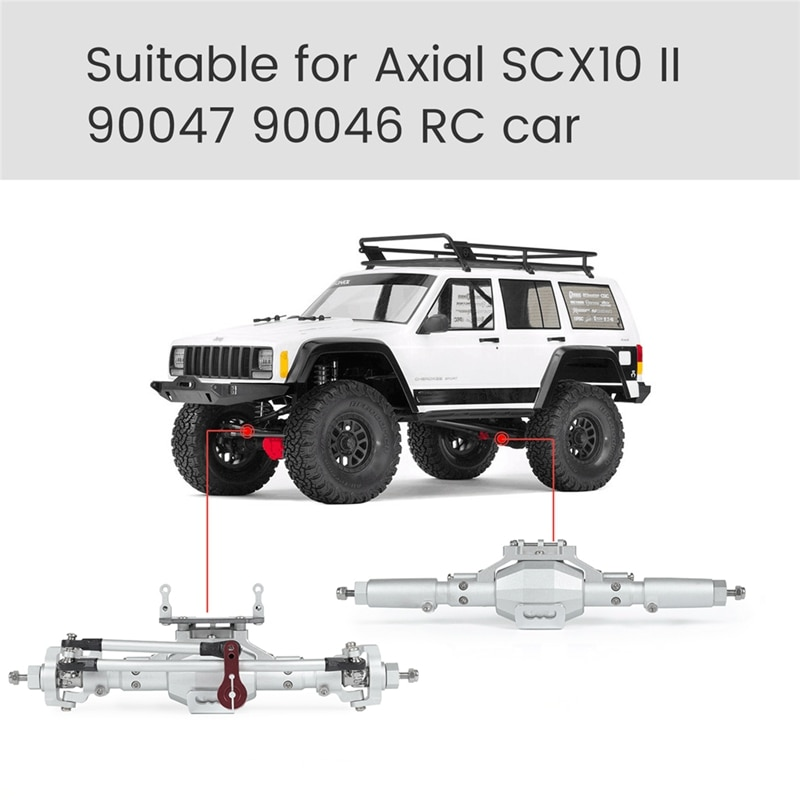 for Axial SCX10 II 90046 90047 RC Crawler Truck Metal CNC Front Rear Axle RC Bridge Axle RC Spare Parts enlarge