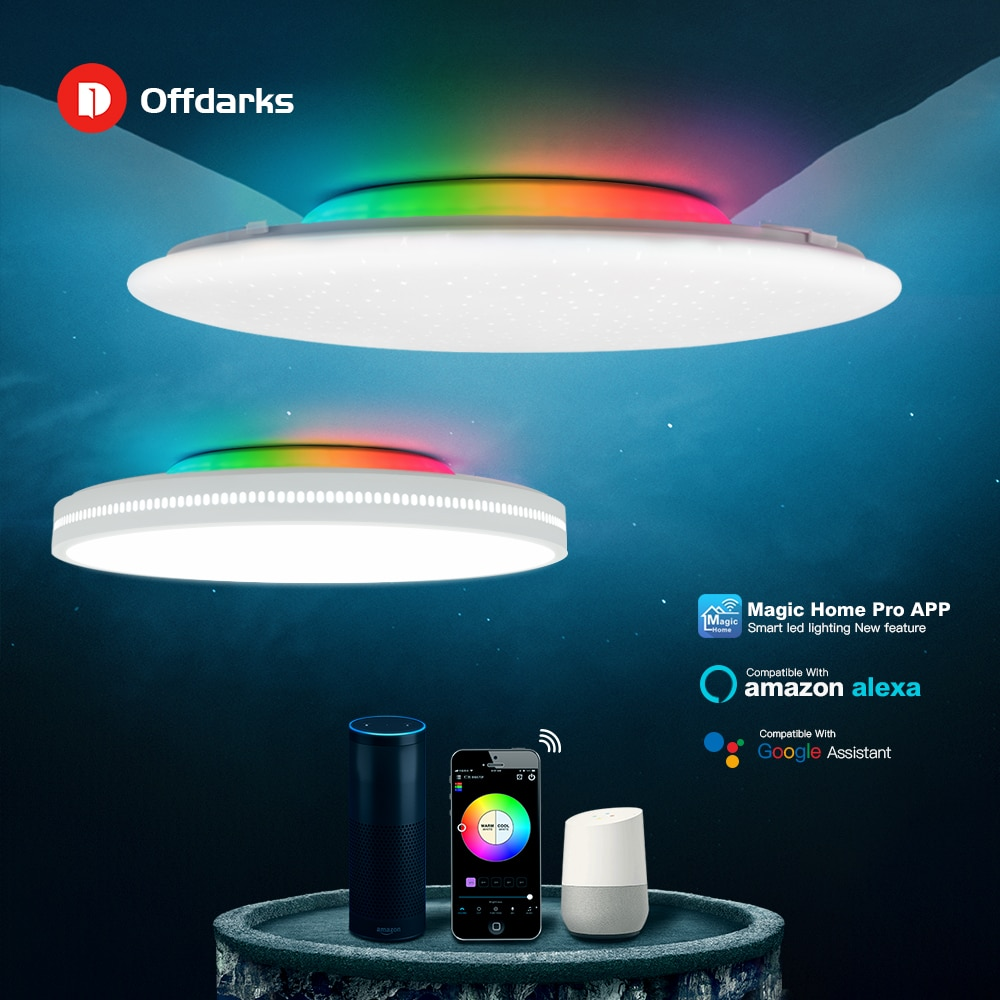 OFFDARKS Modern LED Smart Ceiling Light WiFi / APP Intelligent Control Ceiling lamp RGB Dimming 36W