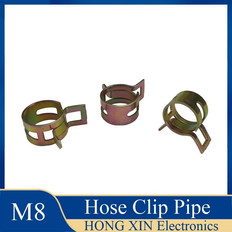 1Pcs 8mm for choose Fuel Spring Clip Vacuum Silicon Hose Clamp Autos Autos Spring Clip Fuel Oil Water Hose Pipe Tube Clamp