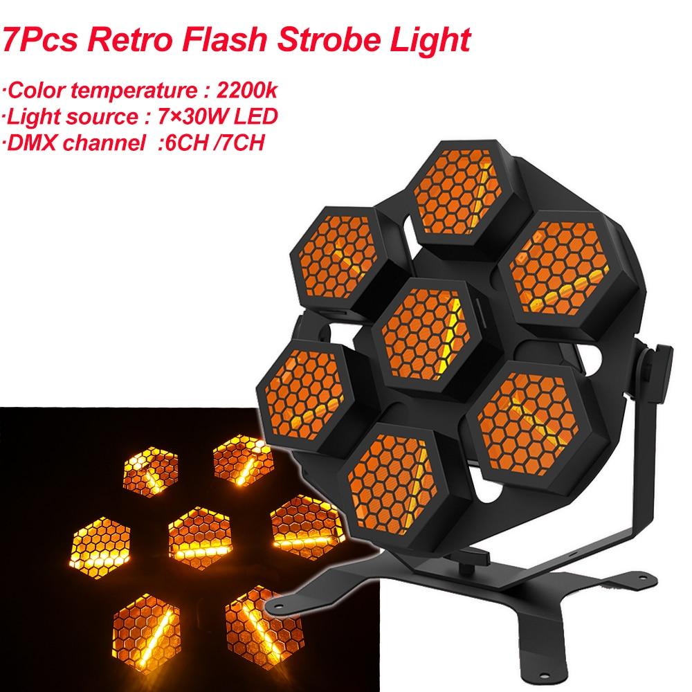 LED مصباح 7X30W الرجعية ضوء فلاش النقل ضوء مصابيح حفلات ديسكو المهنية المرحلة تأثير ضوء dj المعدات