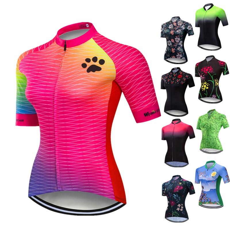 Weimostar-Camiseta de Ciclismo para mujer, Maillot de manga corta para Ciclismo de...