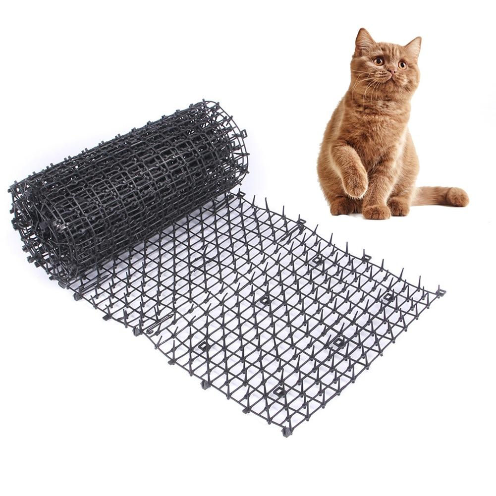 M/L Size Pet Tools Garden Cat Scat Mats Anti-cat Dogs Repellent Mat Prickle Strips Keep Cats Away Safe Plastic Spike Thorn Net