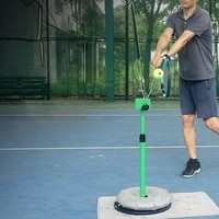 tennis trainer professional adjustable tennis machine ball accessories training tool topspin slice service actions instructor