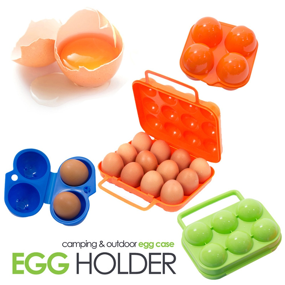 Outdoor Camping Tableware Portable Camping Hiking Picnic BBQ Egg Container Egg Storage Boxes Travel