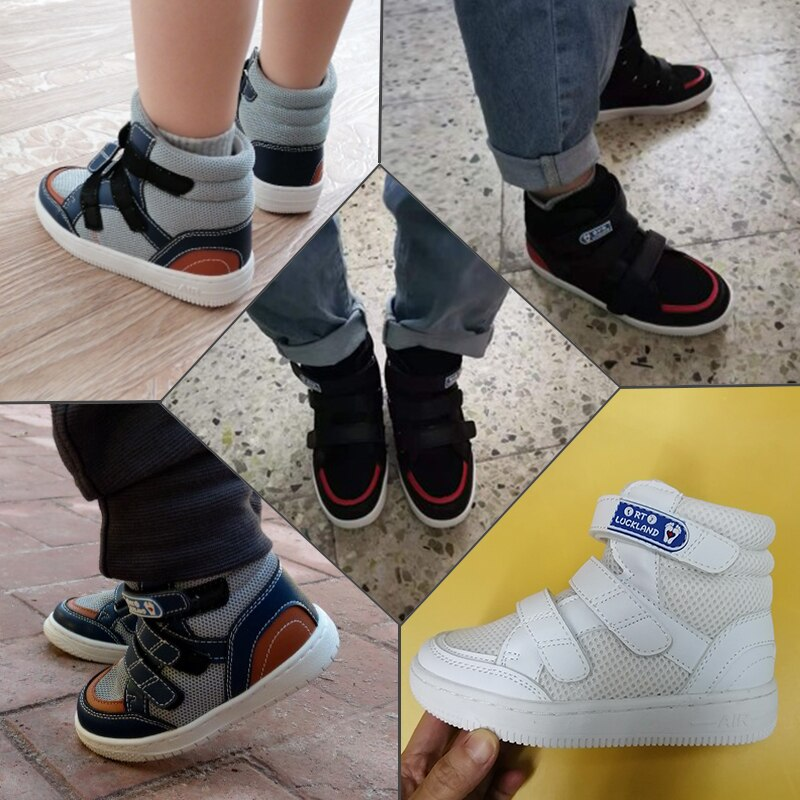 Ortoluckland Toddler Boy Sneakers Kids Orthotic Sport Running Shoes Teenager Babies Leisure Mesh Booties Tiptoe Leather Footwear enlarge