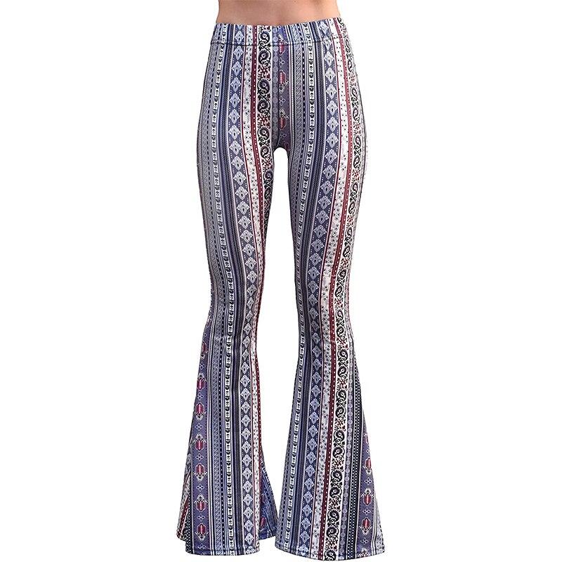 Women Bell Bottom Pants 2021 Sexy Pants Gypsy Comfy Yoga Ethnic Tribal Stretch Palazzo High Waist Le