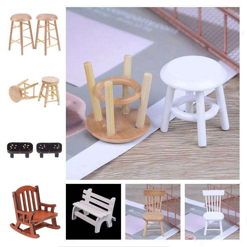 New Simulation Mini Sofa Stool Chair Furniture Model Toys for Doll House Decoration 1/12 Dollhouse Miniature Accessories недорого