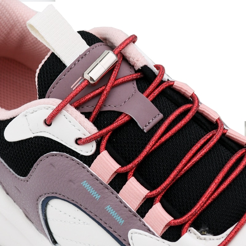 Elastic Laces without ties Colorful Sneakers Shoelaces Round No Tie Shoe laces Glitter Kids Adult Quick Shoe lace Rubber Bands