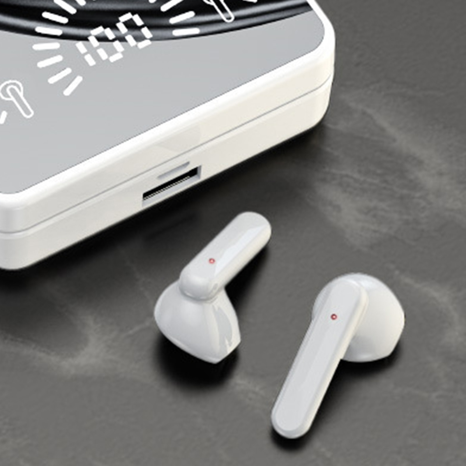 Tws Stylish Wireless Earbuds Hifi Led Display Mirror Sports Headsets Stereo Earbuds Waterproof Auto Pairing Stereo Headphone enlarge