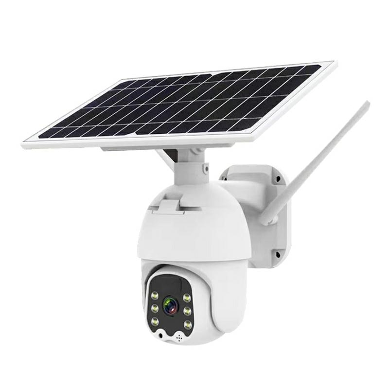 Solar Powered Smart WiFi Home Security Camera System Wireless with PIR Motion Detection Night Vision