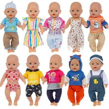 Hot Suit Clothes Fit 17 inch 43cm Doll Clothes Born Baby Doll Clothes dress For Baby Birthday Festiv