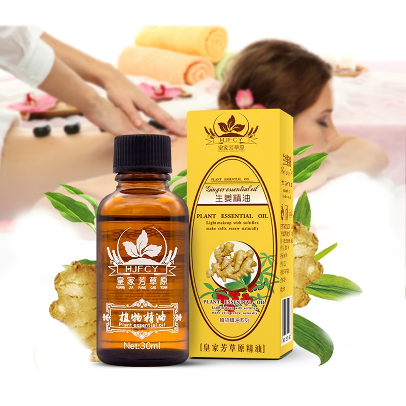 30ml Natural Plant Therapy Lymphatic Drainage Ginger Oil Natural Anti Aging Essential Oil Lady Body Massage Care Product TSLM1 недорого